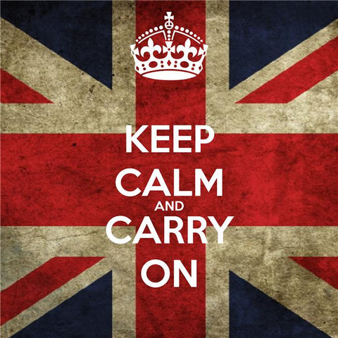 Keep Calm and Carry On Silk Print Motivational Poster 015
