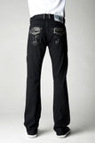 Mens Crystal Cove Straight Leg Denim Laguna (Black) Wash With SS30 Black Diamond Crystals