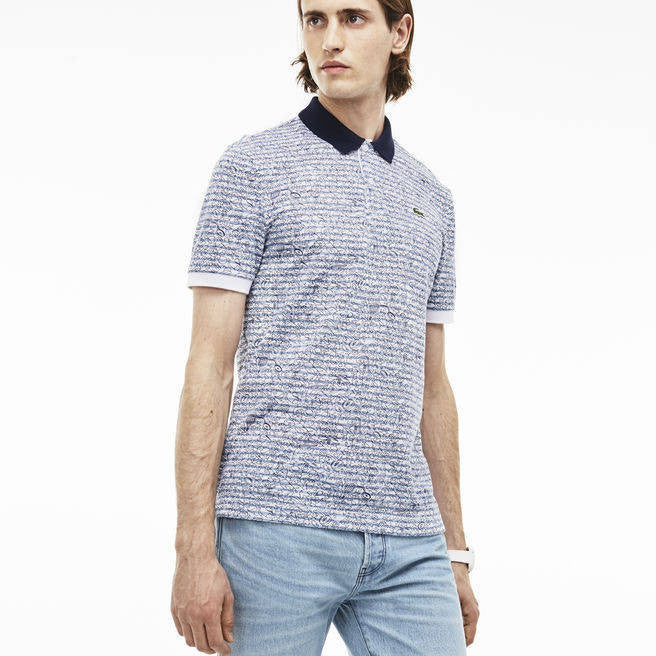 MEN'S L!VE MINI PIQUÉ PRINT ULTRA-SLIM FIT POLO
