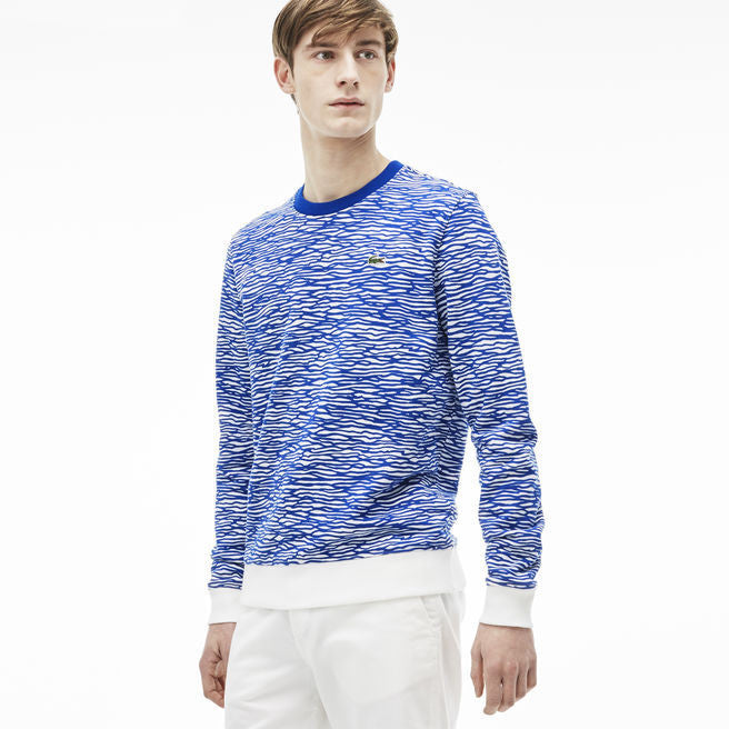 MEN'S L!VE LONG SLEEVE AQUA PRINT SWEATSHIRT