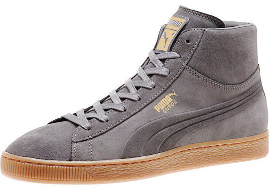 PUMA Suede Mid Emboss Gray