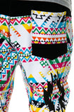 The S.Q.Z. Multi Color Navajo Pattern Printed French Terry Long Pants