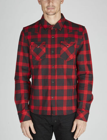 PRINT PLAID SHIRT