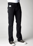 Mens Crystal Cove Straight Leg Denim Laguna (Black) Wash With SS20 Jet Swarovski Crystals
