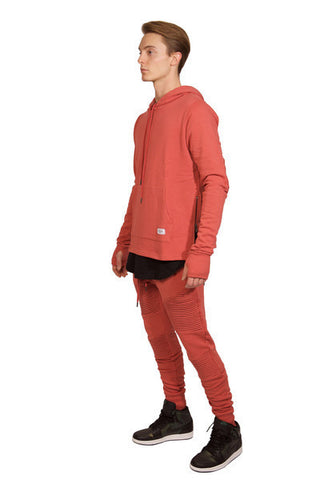 Moto Hooded L/S Sweat Shirt (Moet)