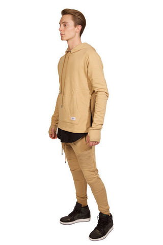 Moto Hooded L/S Sweat Shirt (Champagne)