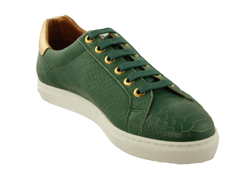 INIMIGO SNEAKERS- GREEN 20 MILK WHITE