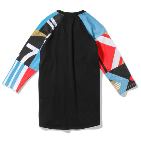 LRG PADDLE TEAM RAGLAN TEE - BLACK