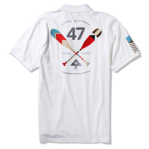 LRG PADDLE TEAM POLO - WHITE