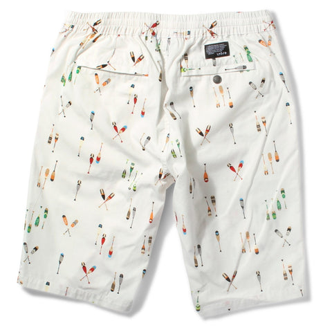 LRG LIFTED CREW ELASTIC WAIST SHORT - WHITE