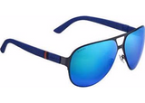 GUCCI GG 2252/S NAVY BLUE MIRROR SUNGLASSES