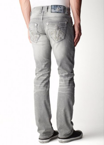 Mens Crystal Cove Straight Leg Basic Denim Newport Grey Wash