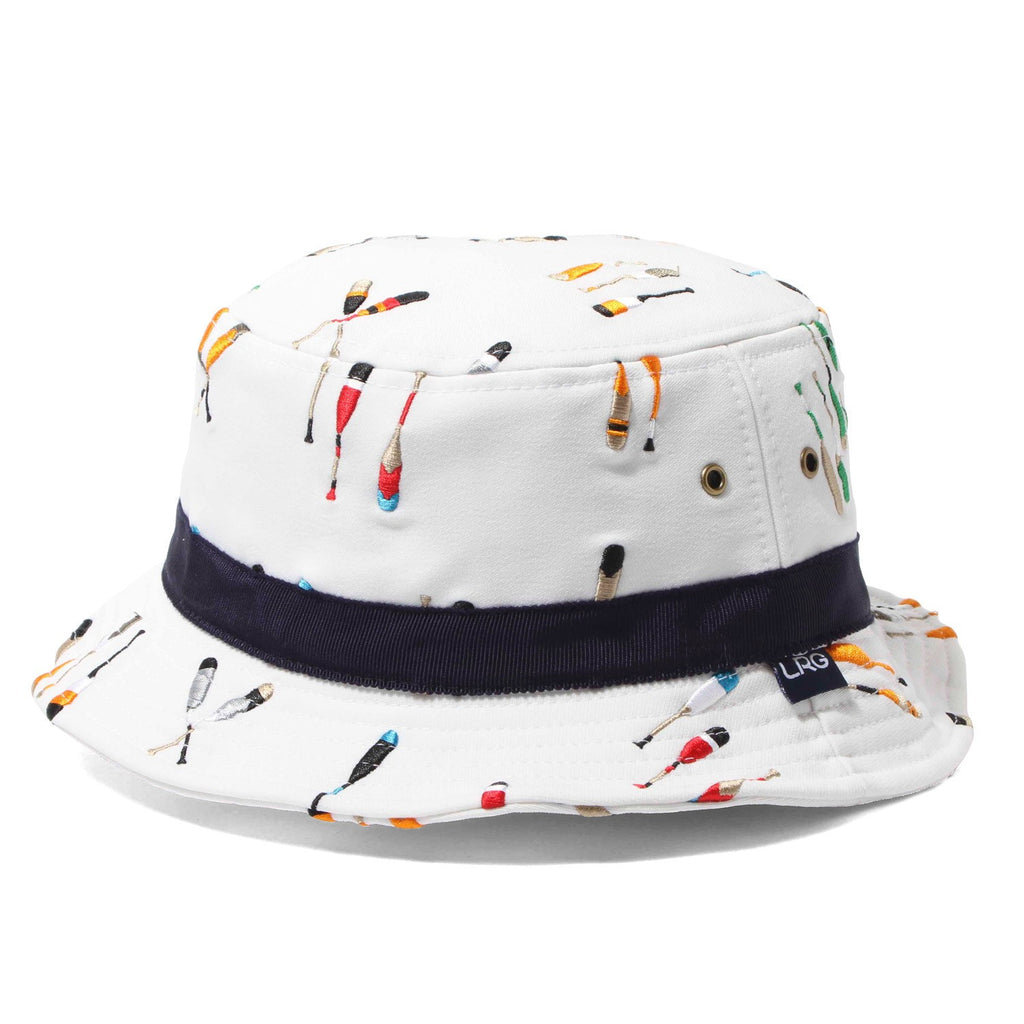 LRG NAUTICAL BY NATURE BUCKET HAT - WHITE