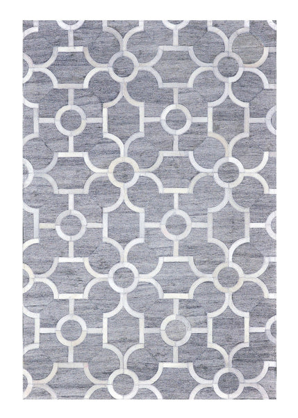 Poshrug Grey Contemporary Design Rug - Free Shipping
