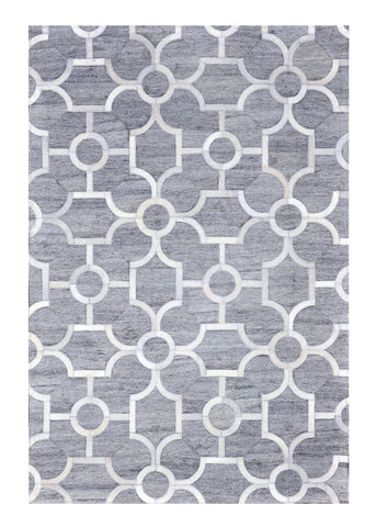 Poshrug Grey Contemporary Design Rug