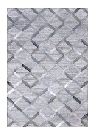 Poshrug Grey Diamond Cowhide Rug - Free Shipping