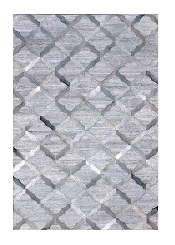 Poshrug Grey Diamond Cowhide Rug