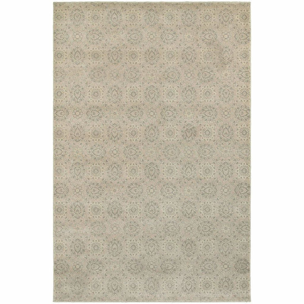 Richmond Beige Ivory Oriental Floral Traditional Rug - Free Shipping