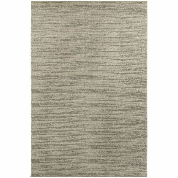Richmond Beige Ivory Solid Stripe Transitional Rug - Free Shipping