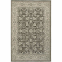 Richmond Brown Ivory Oriental Floral Traditional Rug - Free Shipping