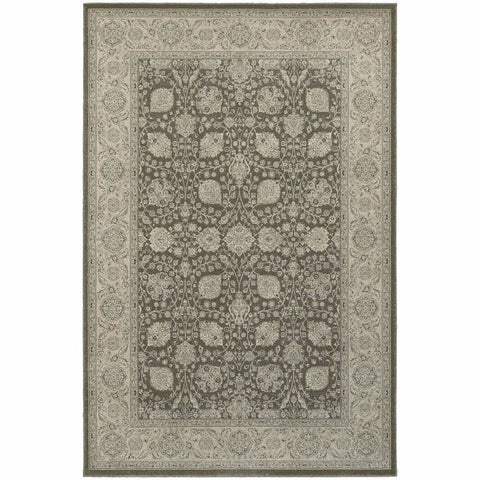 Oriental Weavers Richmond Brown Ivory Oriental Floral Traditional Rug