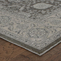Woven Richmond Brown Ivory Oriental Floral Traditional Rug