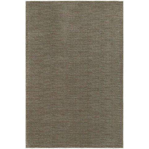 Oriental Weavers Richmond Grey Brown Solid Stripe Transitional Rug