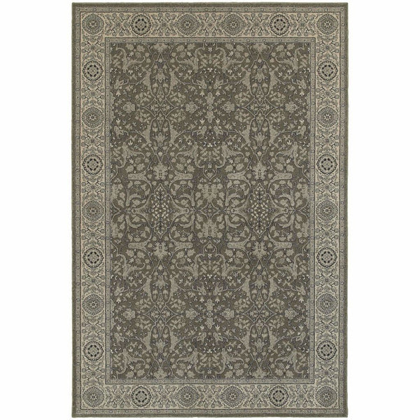Richmond Grey Ivory Oriental Persian Traditional Rug - Free Shipping
