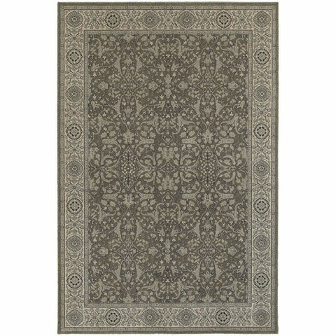 Oriental Weavers Richmond Grey Ivory Oriental Persian Traditional Rug