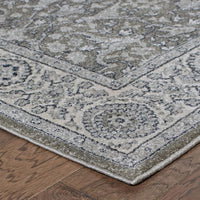 Woven Richmond Grey Ivory Oriental Persian Traditional Rug