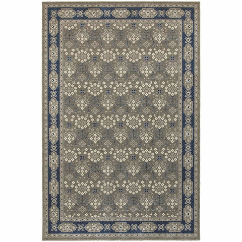 Oriental Weavers Richmond Grey Navy Oriental Persian Traditional Rug