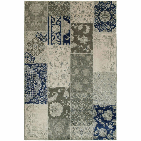 Oriental Weavers Richmond Ivory Grey Geometric Oriental Casual Rug