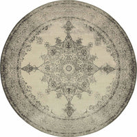 Woven Richmond Ivory Grey Oriental Distressed Traditional Rug