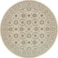 Woven Richmond Ivory Grey Oriental Floral Traditional Rug