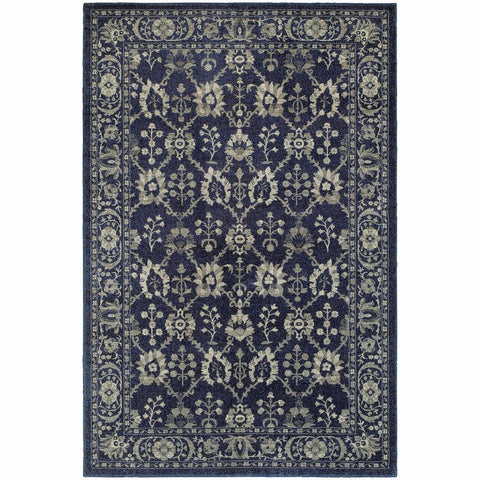 Oriental Weavers Richmond Navy Grey Oriental Persian Traditional Rug