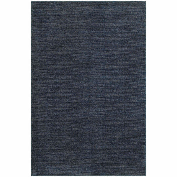 Richmond Navy Grey Solid Stripe Transitional Rug - Free Shipping