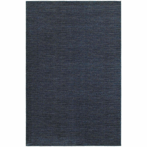 Oriental Weavers Richmond Navy Grey Solid Stripe Transitional Rug