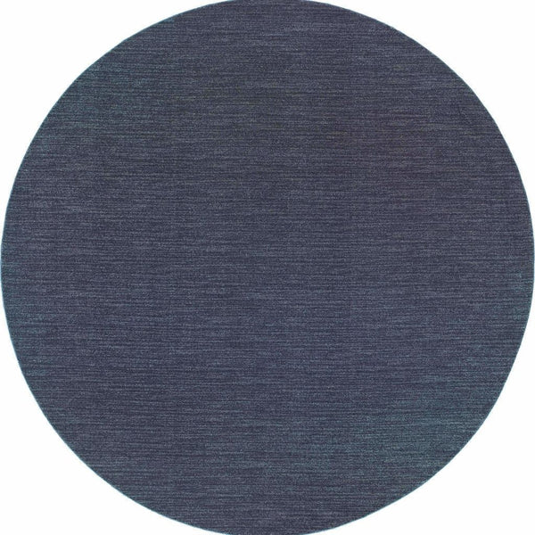 Woven Richmond Navy Grey Solid Stripe Transitional Rug
