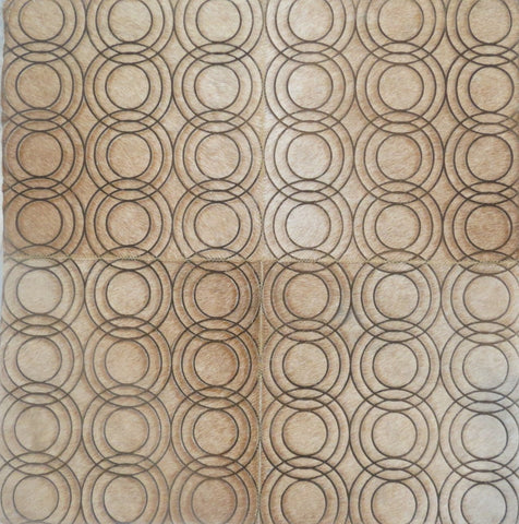 Poshrug Circle Patterned Patchwork Rug