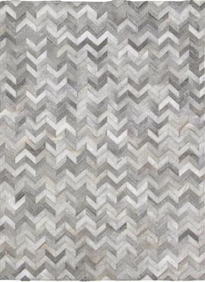 Madisons Gray/Grey Chevron Cowhide Rug