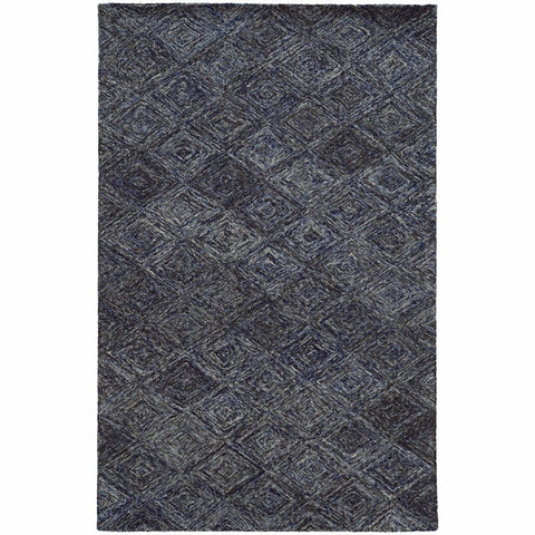 Colorscape Blue Grey Geometric Rug