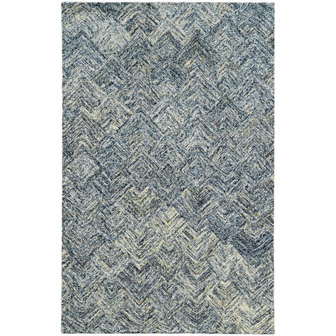 Colorscape Charcoal Beige Geometric Rug