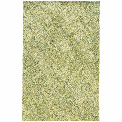 Colorscape Green  Geometric Rug