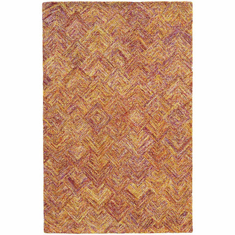 Colorscape Orange Pink Geometric Rug