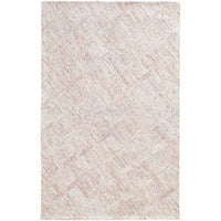 Colorscape Pink Beige Geometric Rug - Free Shipping