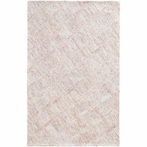Colorscape Pink Beige Geometric Rug