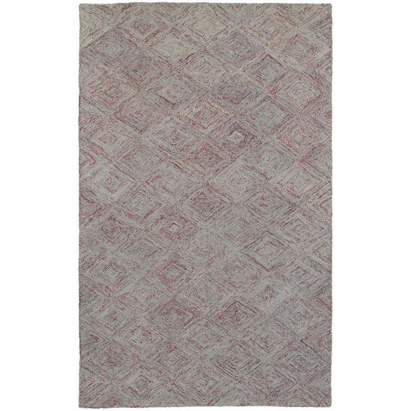 Colorscape Rust Grey Geometric Rug - Free Shipping