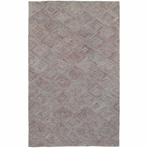 Oriental Weavers Colorscape Rust Grey Geometric Rug