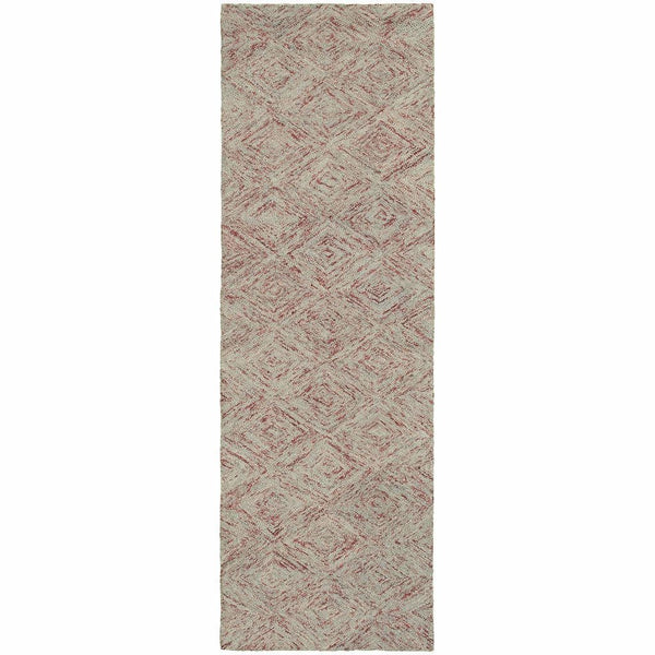 Area Rugs - Colorscape Rust Grey Geometric Rug