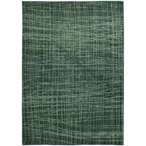 Expressions Blue Green Abstract Rug